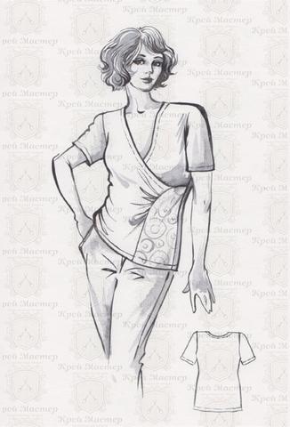 Выкройка асимметричной блузки