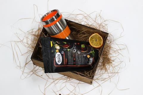 Набор чай с термокружкой №2 вид сверху