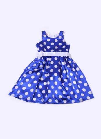 Деми-М Платье для девочки MP73 синее в горох