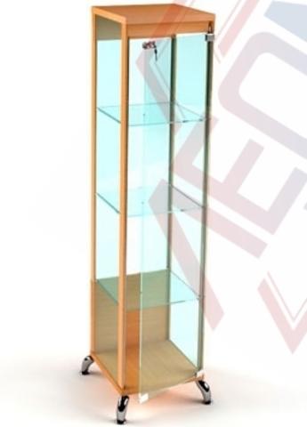 ВМ-400 Витрина музейная на хромированных ногах