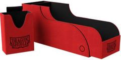 Dragon Shield - Красно-чёрная коробочка Nest+ с отделением для кубиков (300 карт)