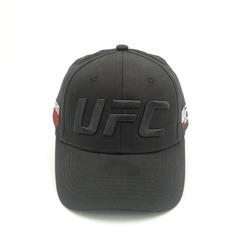 Кепка с вышитым логотипом UFC черного цвета (Бейсболка ЮФС) черная