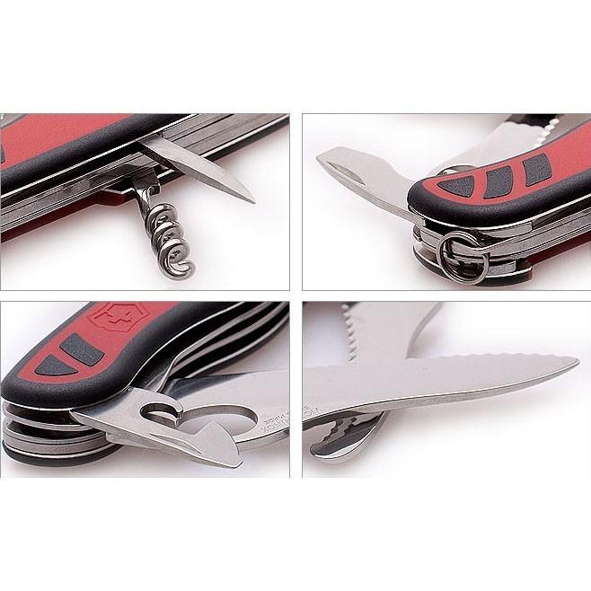 Складной нож Victorinox DUAL PRO red/black One-Hand, серрейторное лезвие с отверстием для открывания одной рукой (0.8371.MWC)