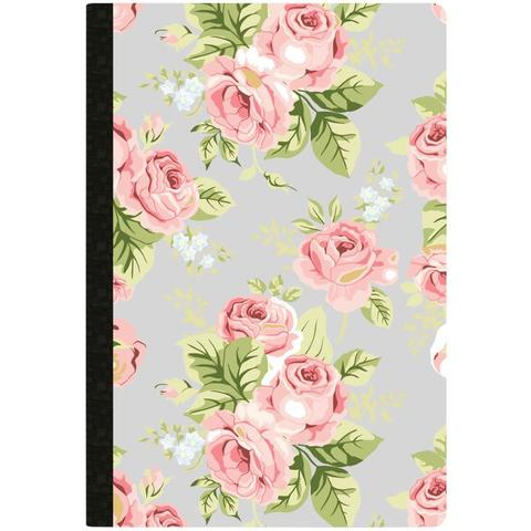 Тетрадь Color Crush Composition Planner Notebook -Gray Floral  Dotted Grid Sheets- 80л