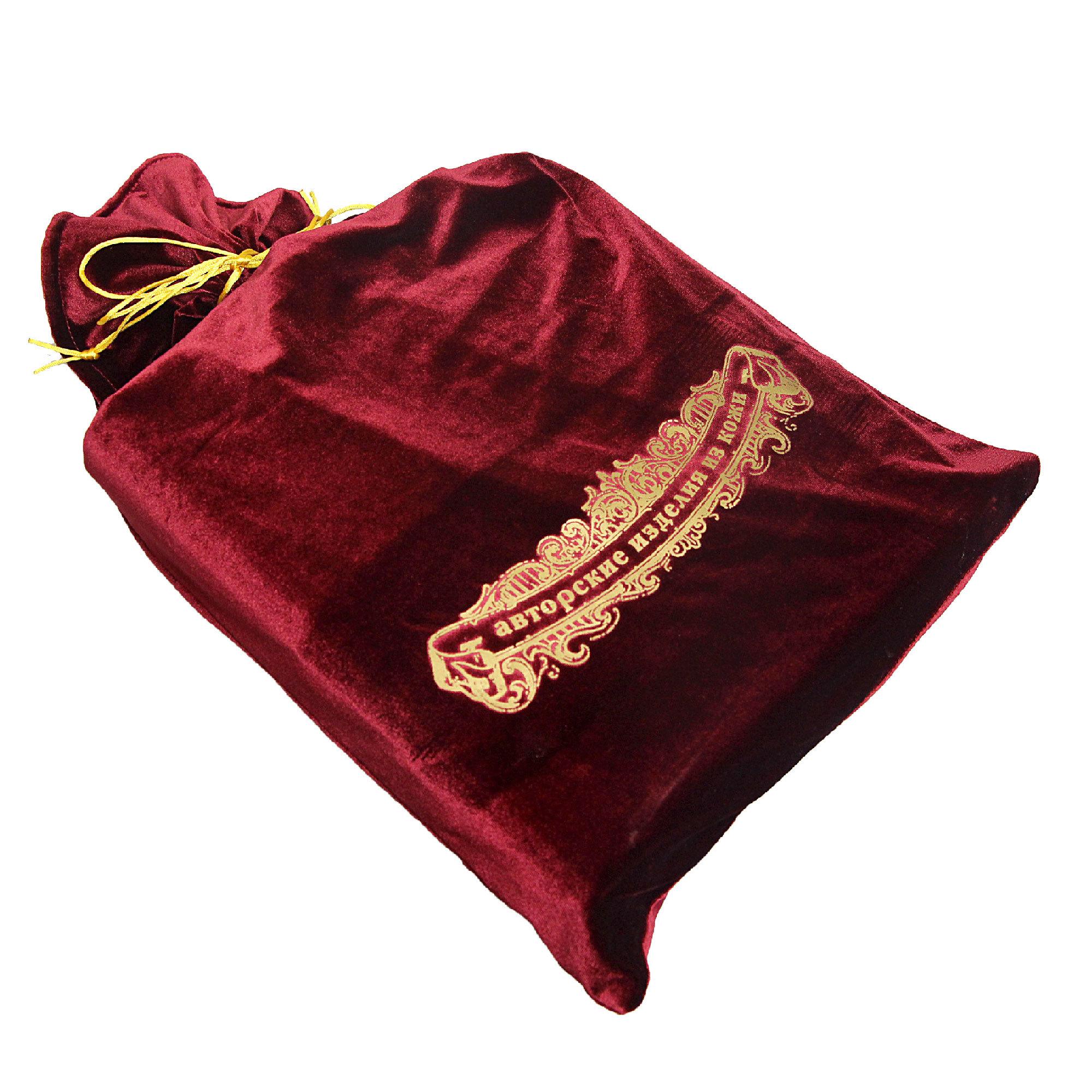 Мешок подарочный М-4 бордо