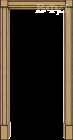 Арка межкомнатная шпонированная Владимирская фабрика дверей, Портал, цвет светлый дуб