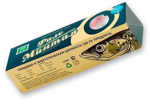 Минтай филе монолит по 1 кг(1/21) ОКРФ