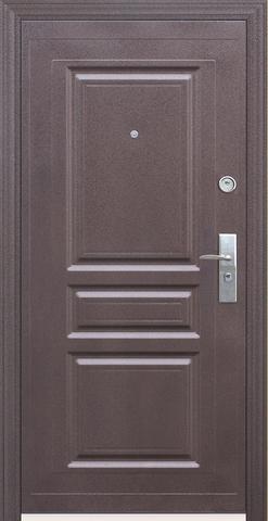 Дверь входная Кайзер Венге/комби, 2 замка, 1 мм  металл, (молоток капучино+венге)