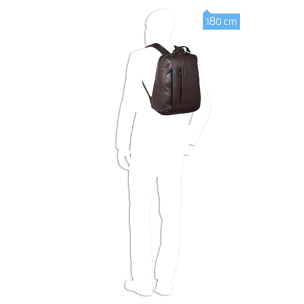 Рюкзак Piquadro Pulse, цвет коричневый,  33х42х19 см (CA3349P15/M)