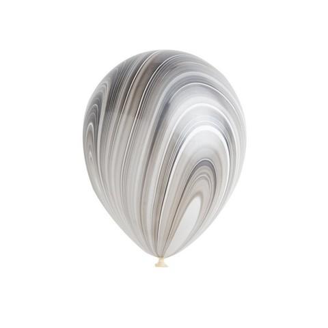 Латексный воздушный шар, цвет черный агат