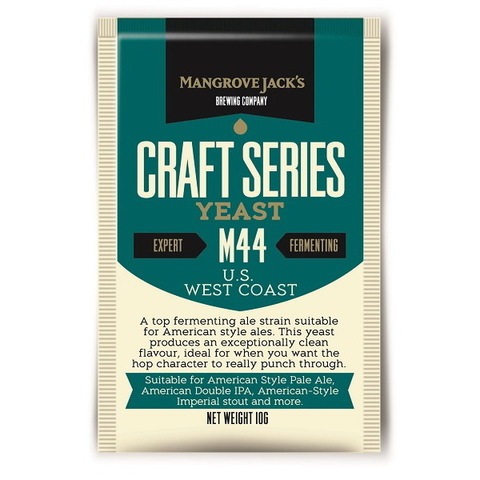 Дрожжи Mangrove jack's M44 US west coast на 23 литра пива