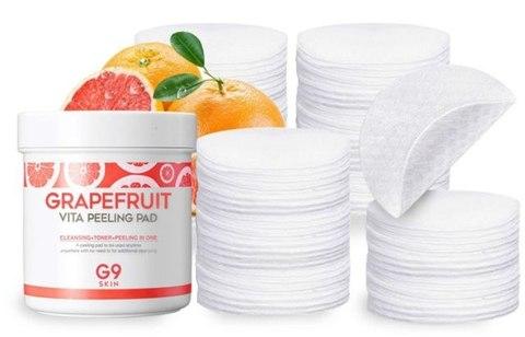BERRISOM G9 Grapefruit Ватные диски для пилинга G9SKIN Grapefruit Vita Peeling Pad 200g