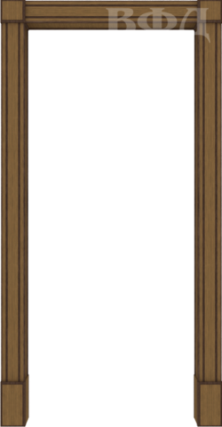 Арка межкомнатная шпонированная Владимирская фабрика дверей, Портал, цвет орех