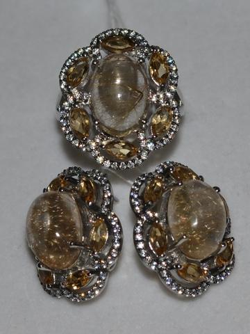 Злата  (кольцо + серьги из серебра)