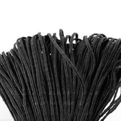 Сутаж, 3х1 мм, цвет - черный, примерно 1 м