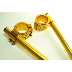 Клипоны для мотоцикла диаметром 37mm Золотой