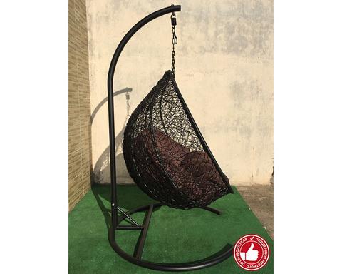 Кресло качели двухместные Сомбрерро черные