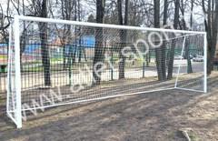 Ворота футбольные алюминиевые 7.32 х 2.44 м. переносные (пара), d=100мм.