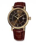 Часы наручные SWIZA Alza GMT золото / коричневая кожа 40мм (WAT.0142.1401)