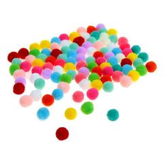 Помпоны разноцветные, набор 100 шт.