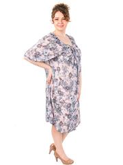 B1233-7 платье серое