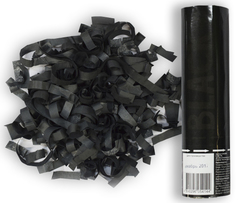 AC 20см Пневмохлопушка Черное конфетти