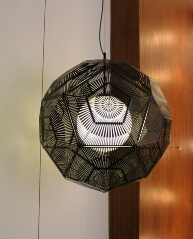 Replica Tom Dixon Etch Web pendant lamp (black) - NEW