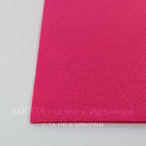 Фетр для рукоделия мягкий, 30х30 см, цвет - малиновый