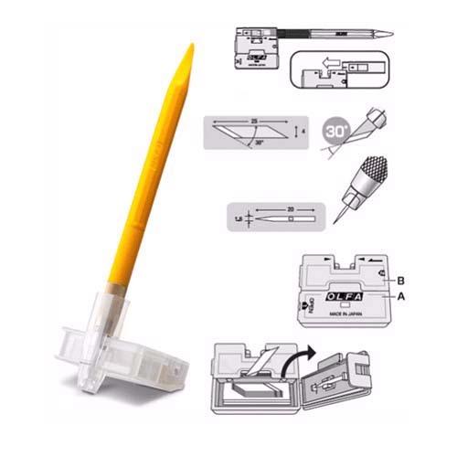 Нож AK-5 перовой дизайнерский нож для точных работ, рукоятка с мини шпателем