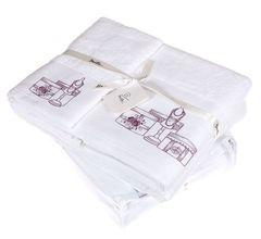 Полотенце 70х140 Devilla От Кутюр белое/розовое