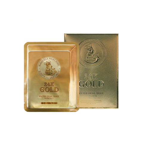 Маска Elizavecca 24k gold water dew snail mask pack (25ml x 10ea) 10 шт.