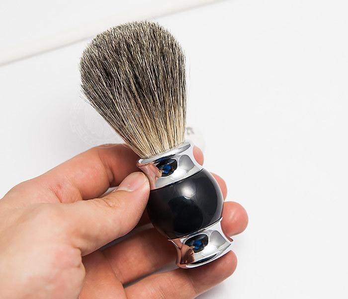 RAZ303-1 Помазок для бритья с рукояткой темно-синего цвета фото 04