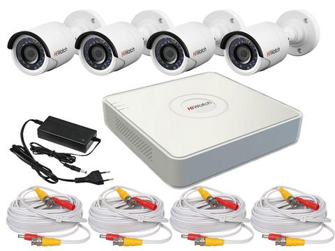 Набор видеонаблюдения «Дача» на 4 камеры с разрешением 2Мп