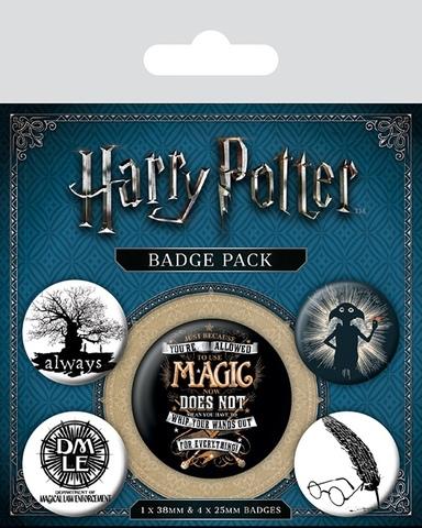 Набор значков Harry Potter Магия