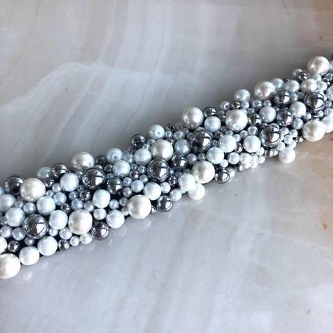 Колье Джоана, серебряный цвет и белый
