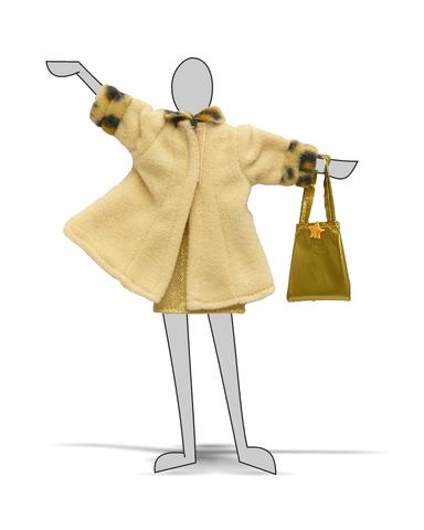 Костюм с пальто - Демонстрационный образец. Одежда для кукол, пупсов и мягких игрушек.