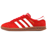 Кроссовки Мужские Adidas Hamburg Red Suede White