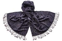 Палантин женский тёмно-синего цвета (0227 PAL 13)