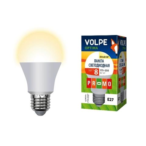 Volpe Лампа LED-A60-8W/WW/E27/FR/O Optima (теплый свет)