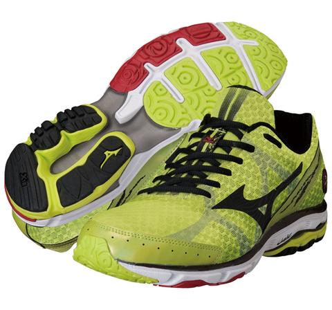 Mizuno Wave Rider 17 кроссовки для бега мужские желтые