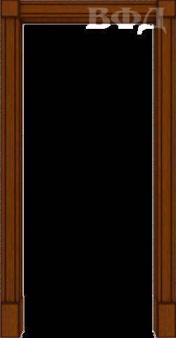 Арка межкомнатная шпонированная Владимирская фабрика дверей, Портал, цвет макоре
