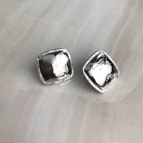 Серьги Сойана, серебряный цвет