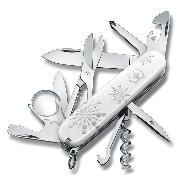 """Нож Victorinox Explorer LE, 91 мм, 16 функций, """"White Christmas"""" (подар. упаковка)"""