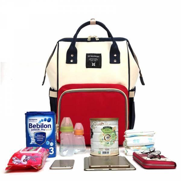 c66eb7ebe66d Сумка-Рюкзак для мамы Mommy Bag с креплением для коляски и выходом USB