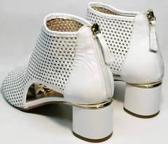 Модные женские босоножки с закрытой пяткой Magnolya 3503 56-3 SummerWhite