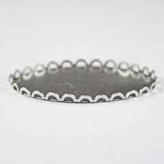 Сеттинг - основа для камеи или кабошона 40х30 мм (оксид серебра)