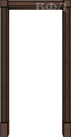 Арка межкомнатная шпонированная Владимирская фабрика дверей, Портал, цвет венге