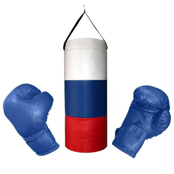 Набор боксерские BGS305 (детский), -, синий, Тренировочный, искусственная кожа
