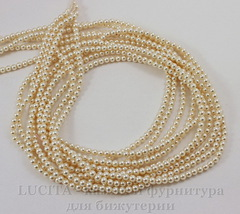 5810 Хрустальный жемчуг Сваровски Crystal Light Creamrose круглый 3 мм, 10 шт