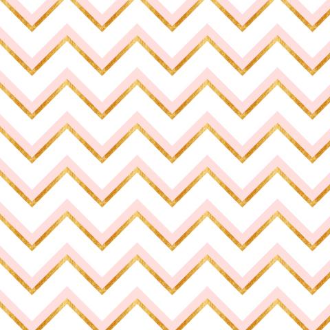 Розовый и золотой зигзаг